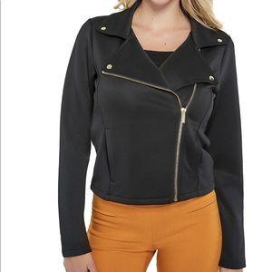 🆕 Guess Jeans Scuba-Knit Moto Jacket